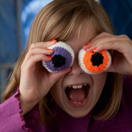 Knitted eyeballs