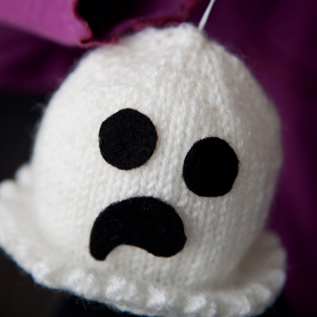 knitted ghost toy