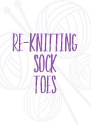 reknitting sock toes