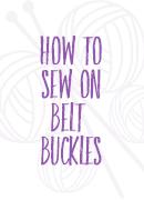 sew on belt buckles