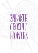 sneaker crochet flowers