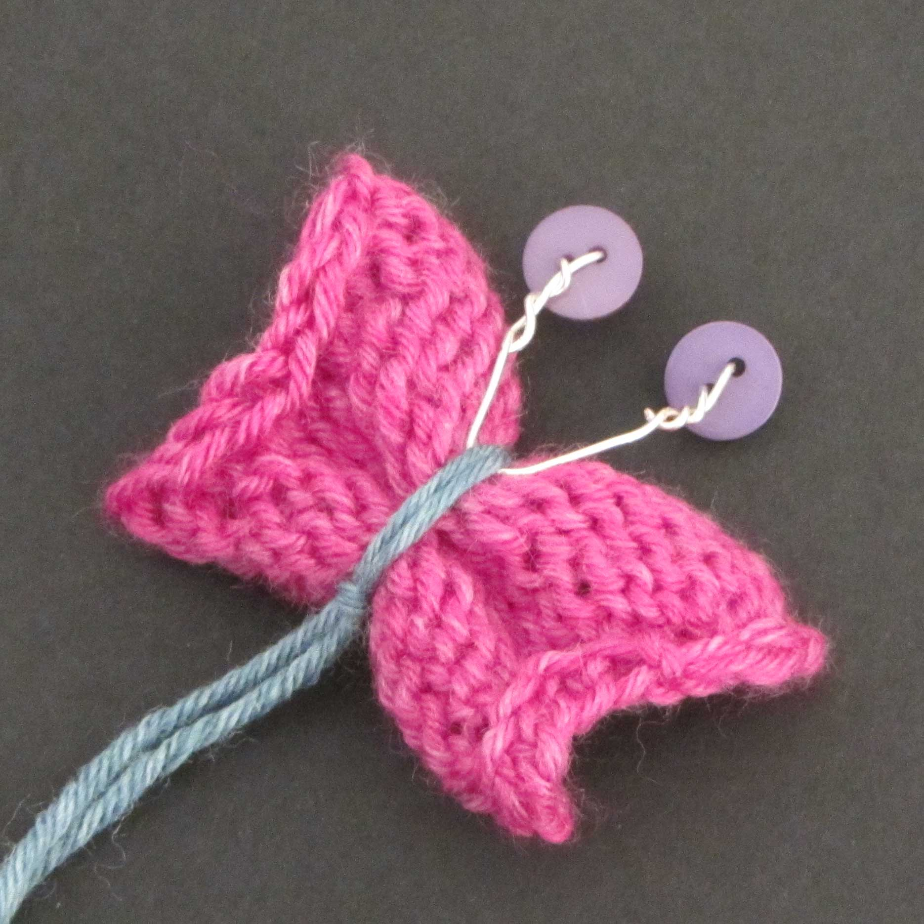 knitted butterfly tutorial15
