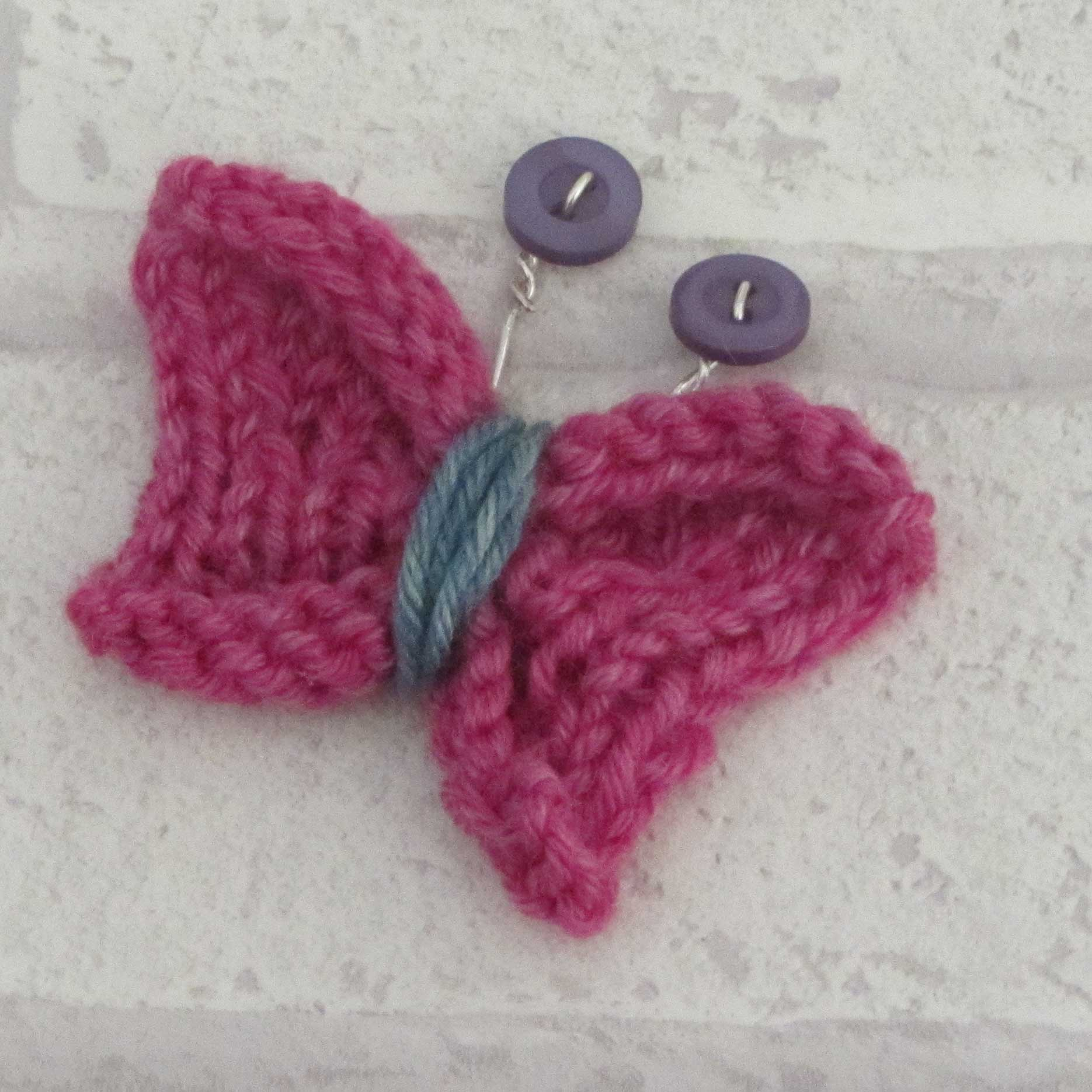 knitted butterfly tutorial2