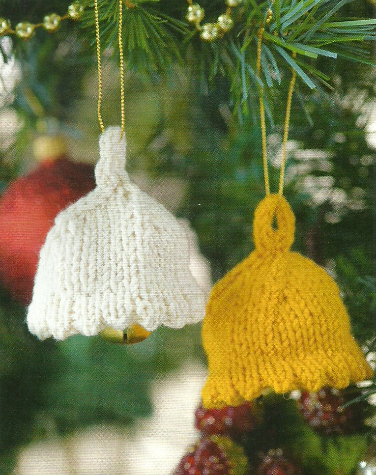 Christmas Bells knitted decoration Simply Knitting
