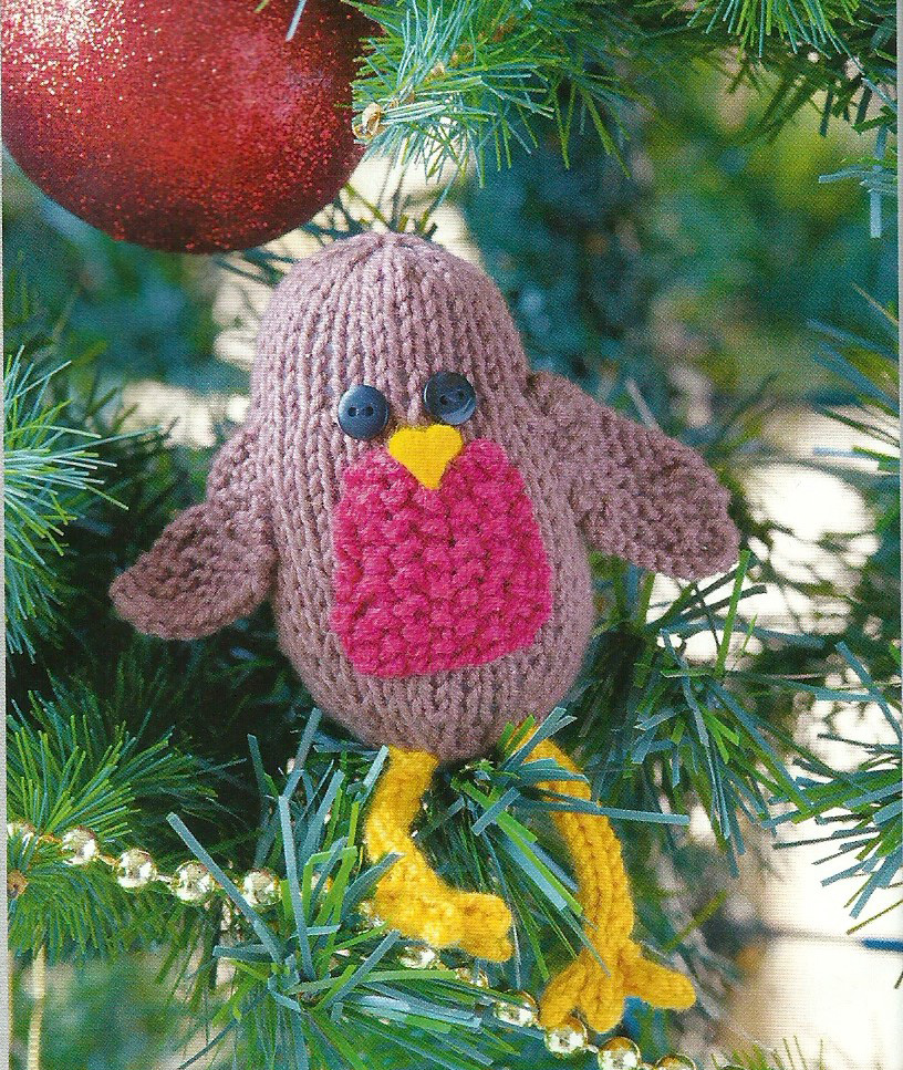 Rockin Robin Knit Christmas Decoration Simply Knitting