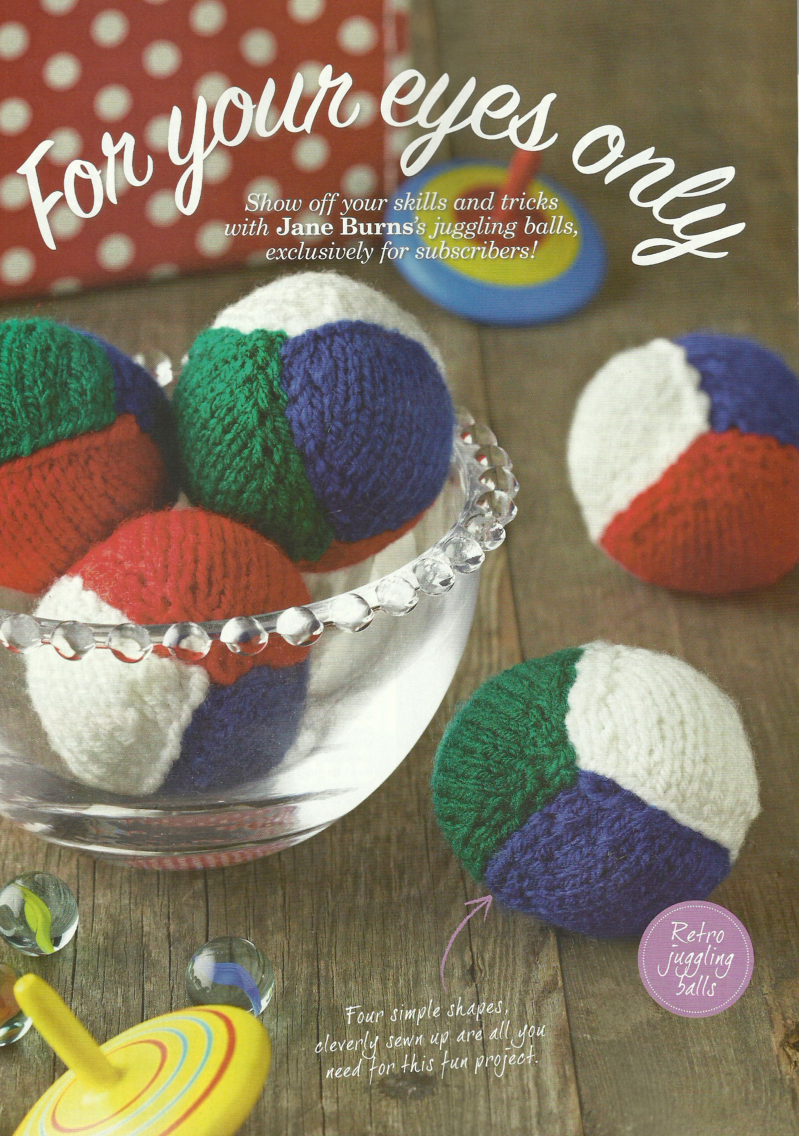 knitted juggling balls