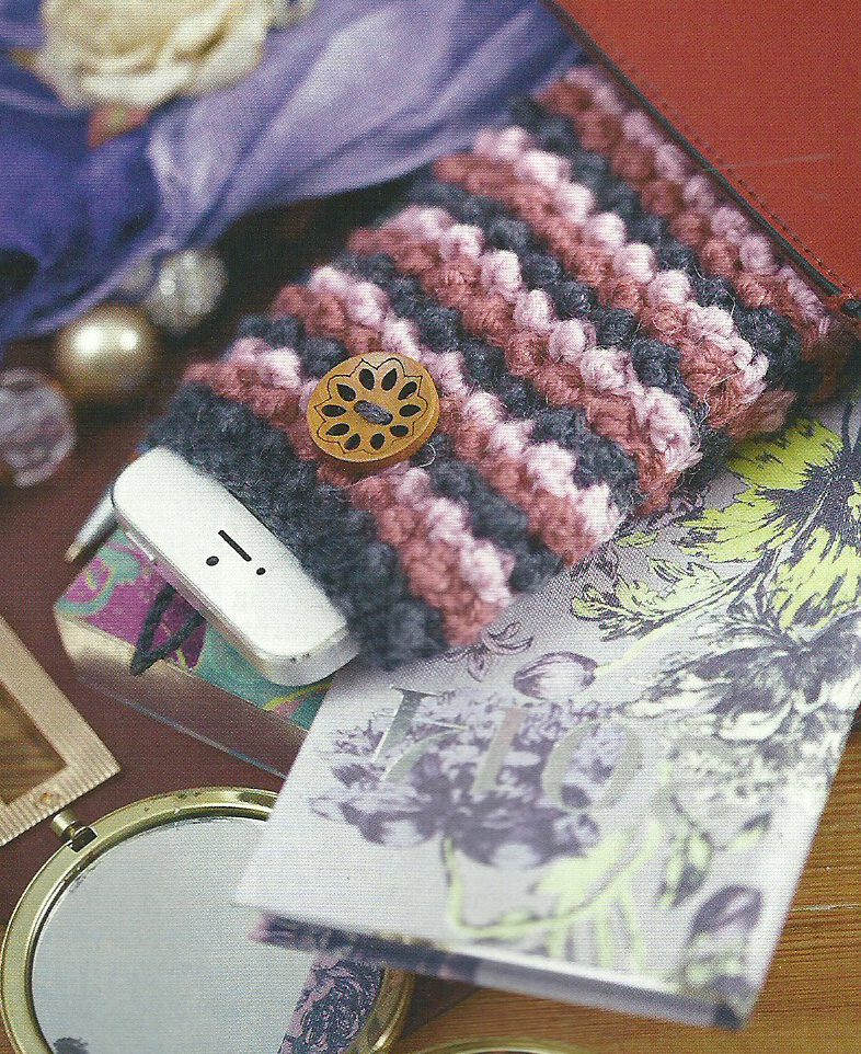 knitted phone cover