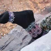 kasbah faux fair isle socks