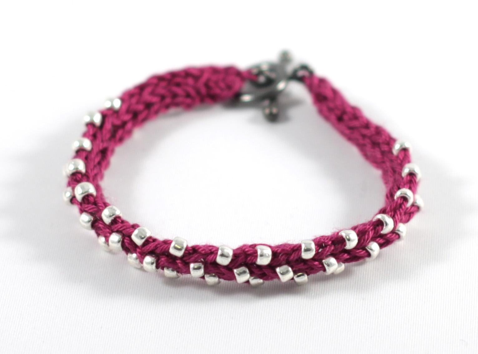 bracelet crochet beaded