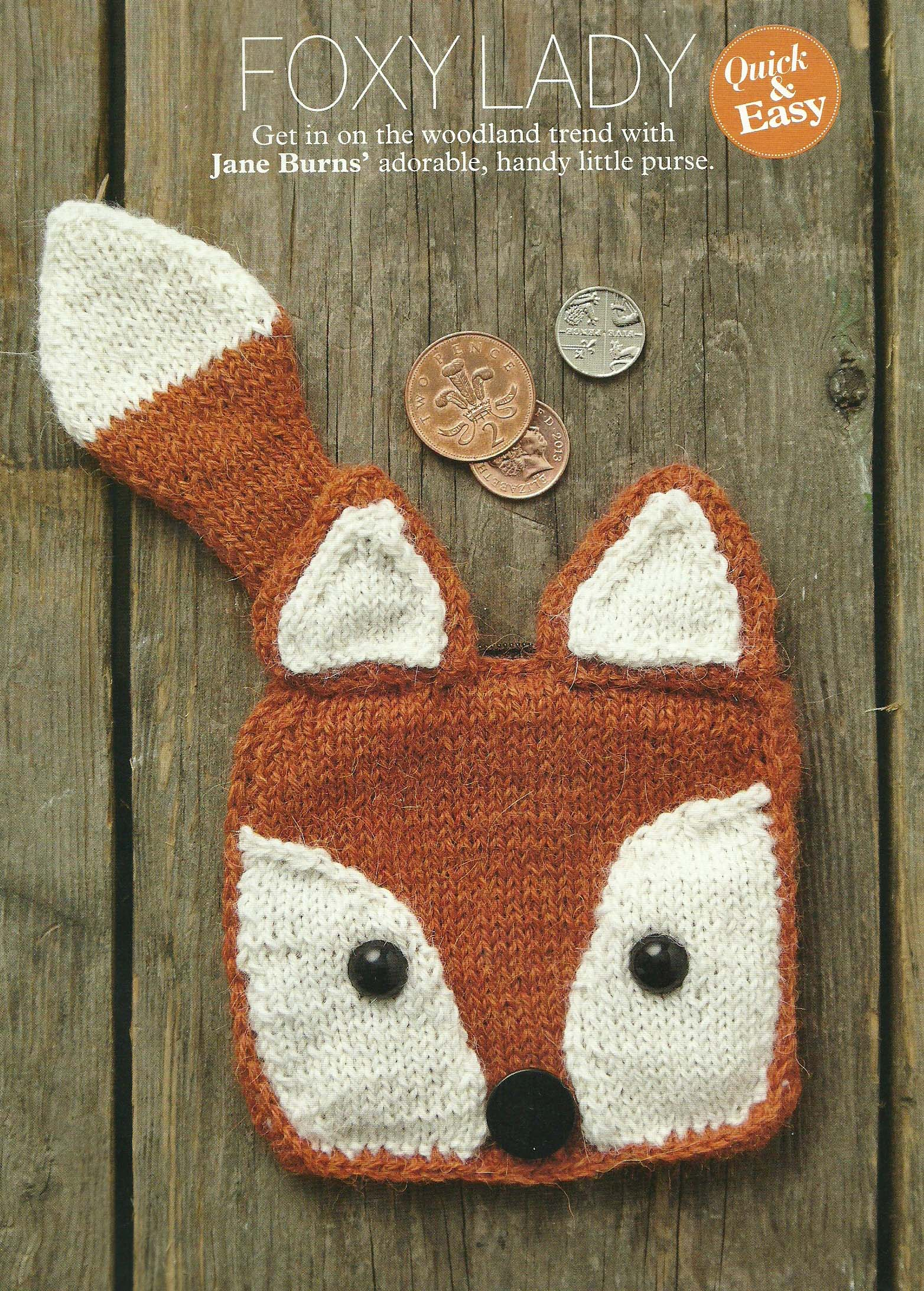 foxy lady purse simply knitting jane burns