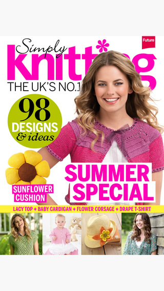 front cover issue 123 simply knitting