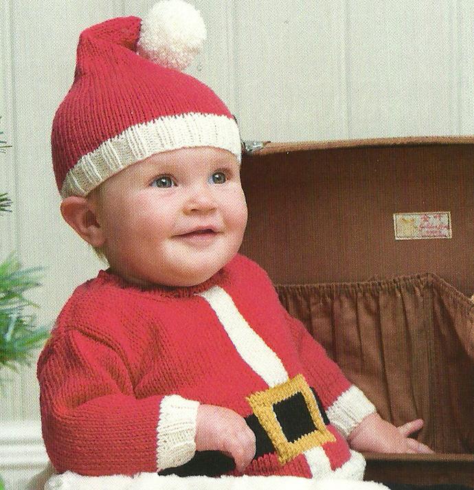 santa baby hat and jumper jane burns