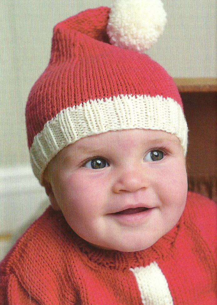 Double Knitting In The Round Hat : Santa baby hat sweaterjane burns jane