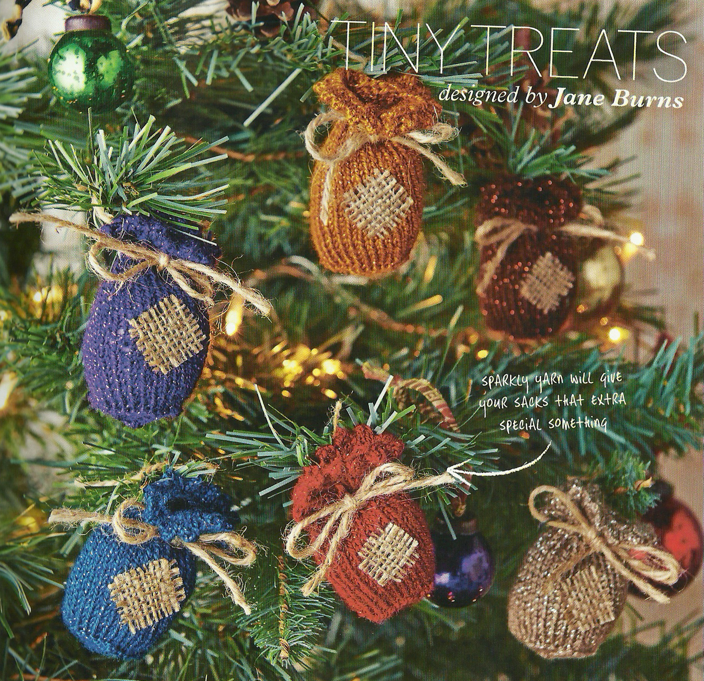 tiny treats tree gift bags knitted jane burns