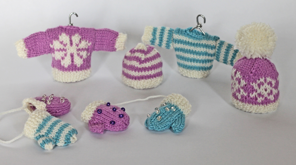 knitted christmas decorations jane burns candy