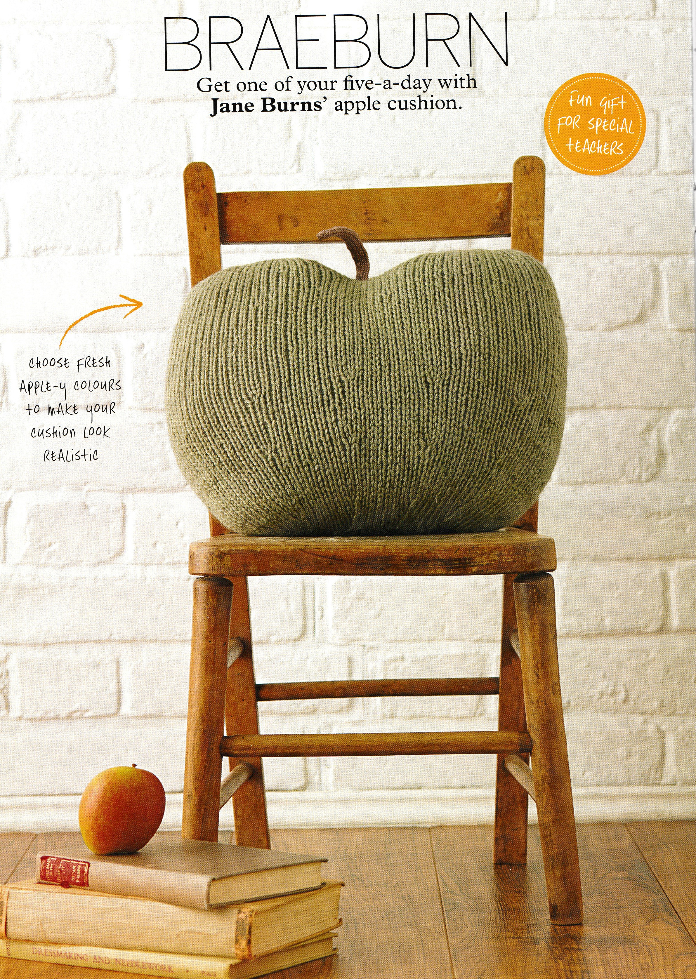 big apple knit cushion jane burns