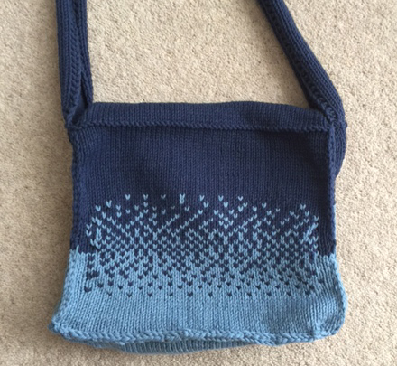 dip dye denim satchel knit jane burns