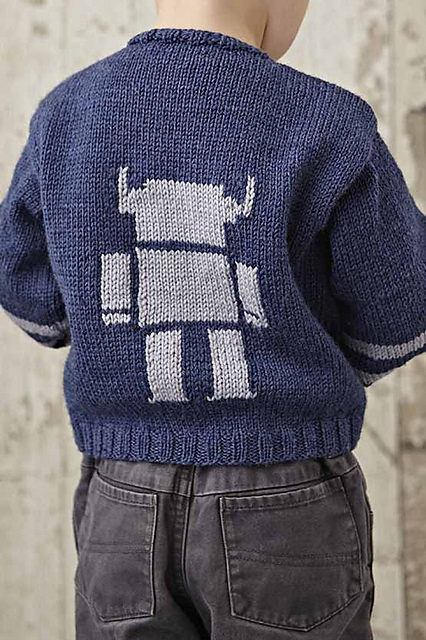 robot jumper knit jane burns