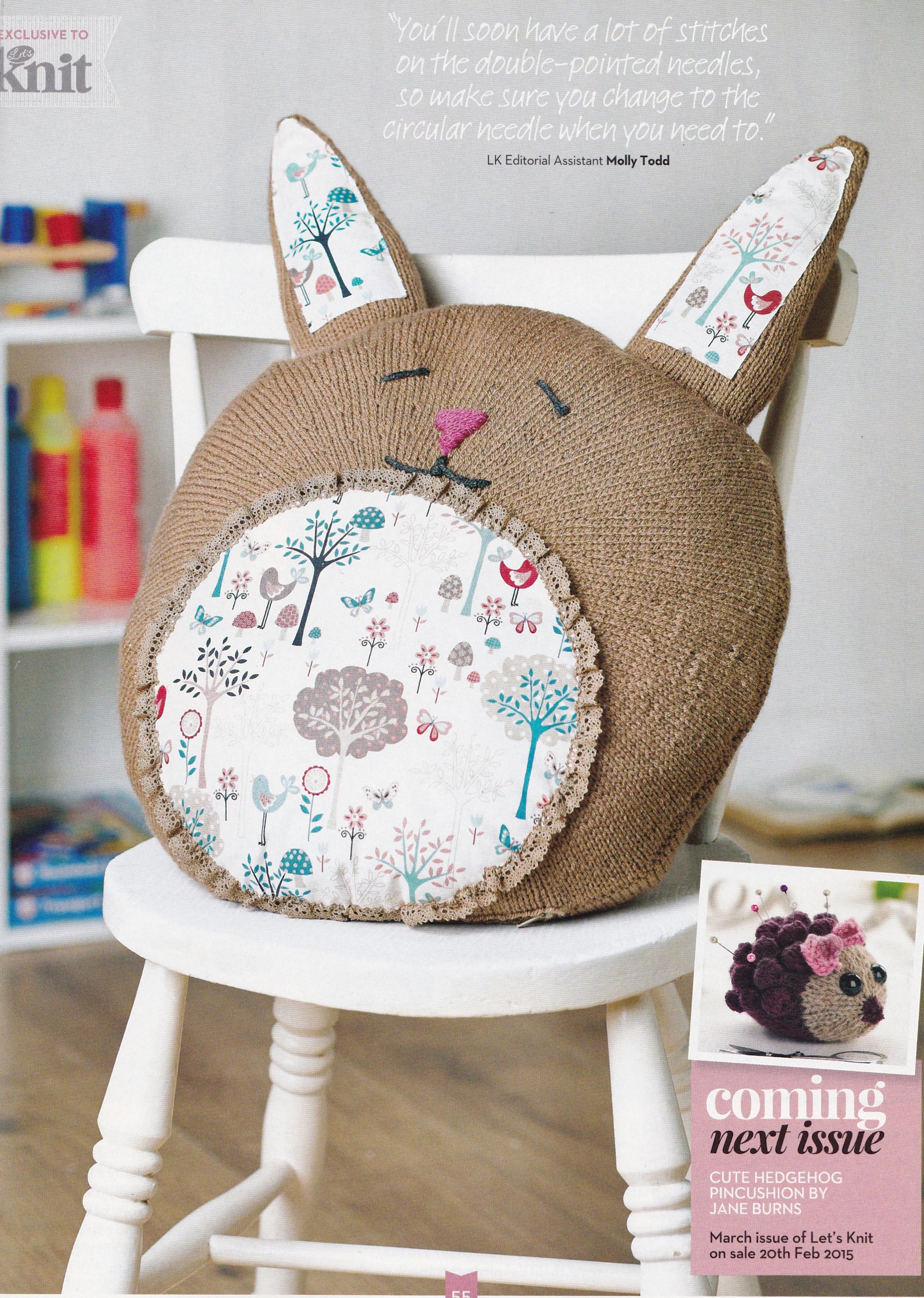 giant bunny cushion jane burns