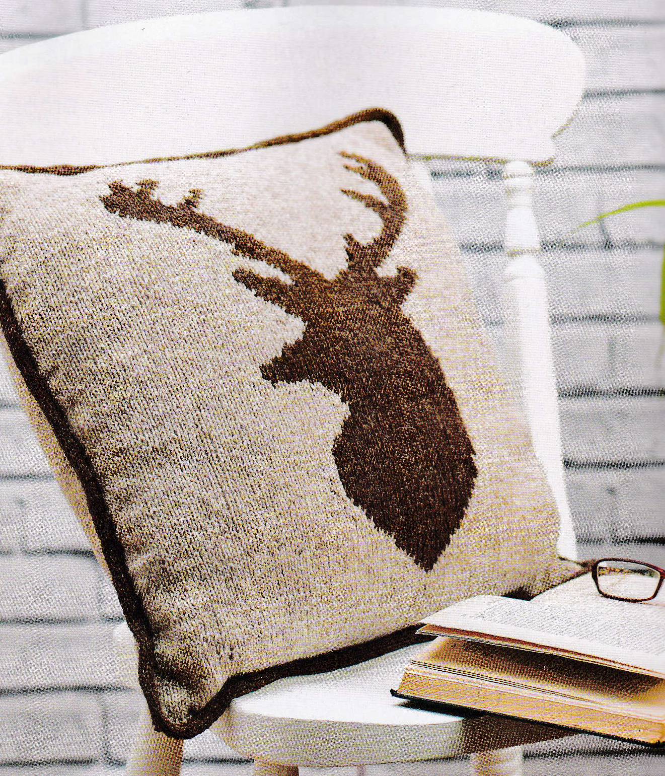 stag cushion jane burns knit