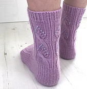 Twisted Love Knitted  Socks Jane Burns
