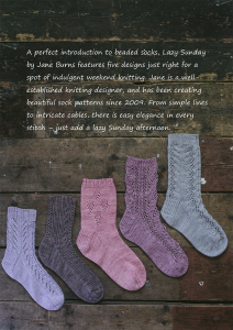 Lazy Sunday Knitted Socks by Jane Burns Back Cover