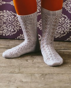 No Room For Ravers, Lazy Sunday Knitted and Beaded Socks by Jane Burns