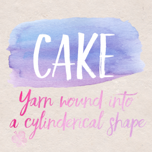 Let's play Knitionary, what is your favourite type of cake?