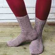 Drift Away, Lazy Sunday Knitted and Beaded Socks by Jane Burns