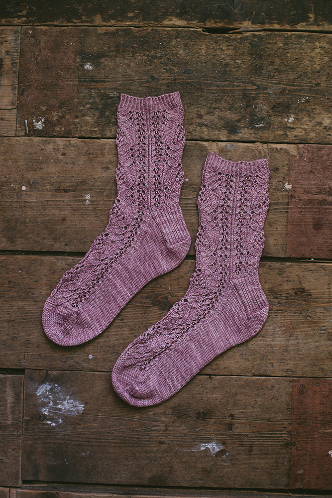No Mind To Worry, Lazy Sunday Knitted and Beaded Socks by Jane Burns