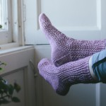 No Mind To Worry knitted socks Jane Burns