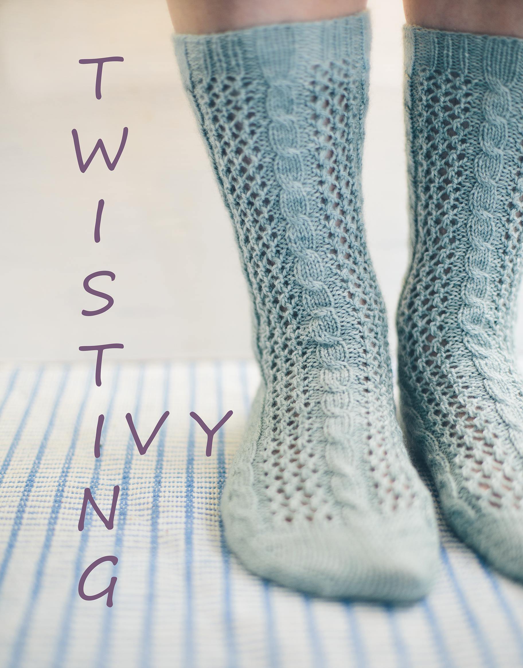 Twisting Ivy Socks, trailing their way to your needlesJane Burns ...