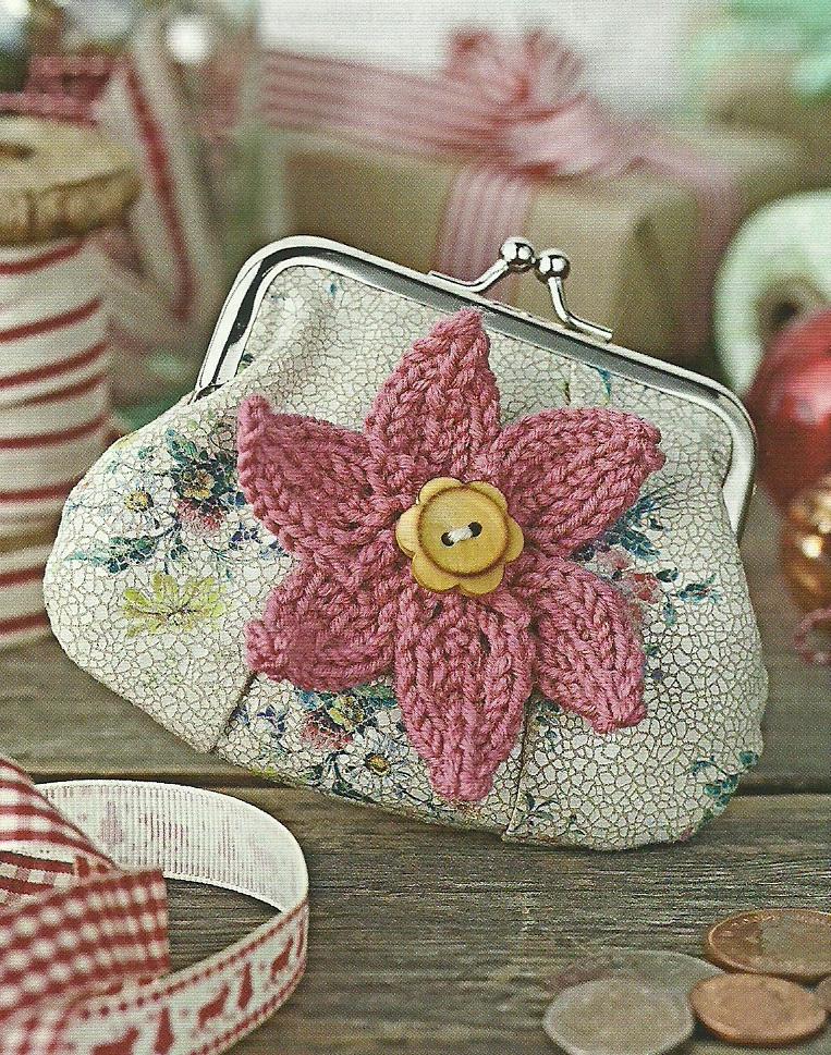 flower pin simply knitting