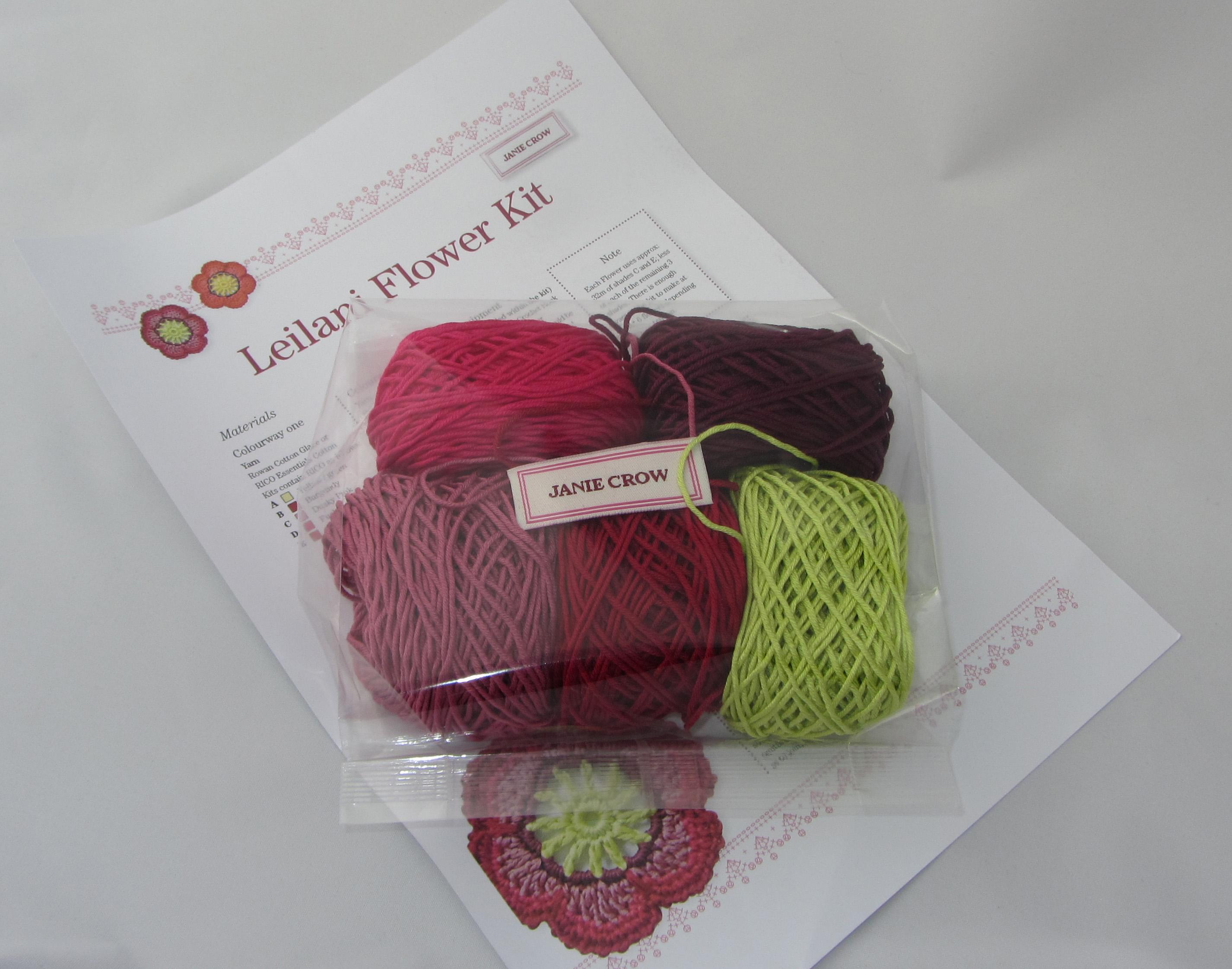 Leilani crochet flower kit jane crowfoot