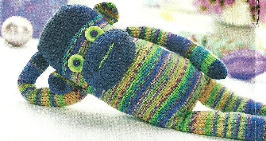 cool sock monkey lets knit