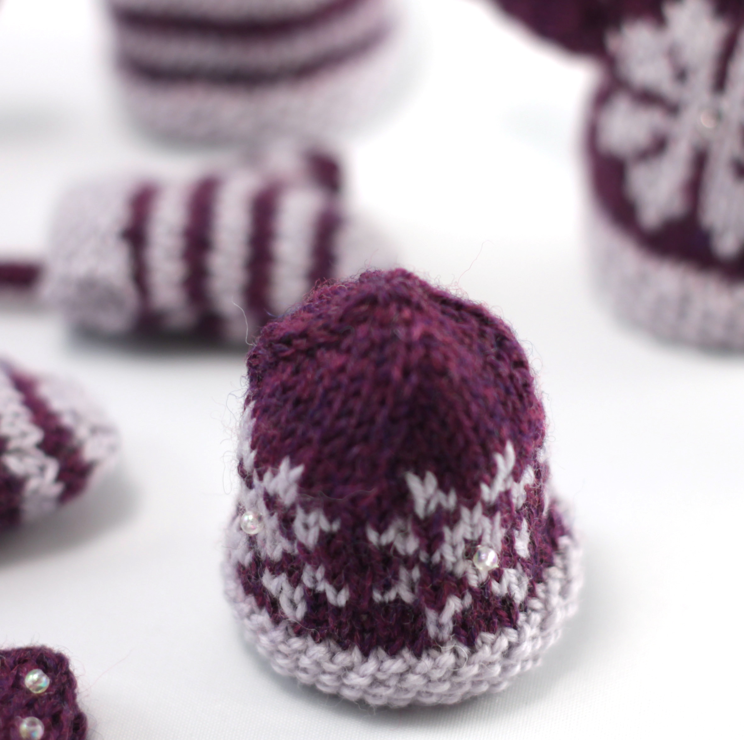 snowflake mini hat christmas decorations