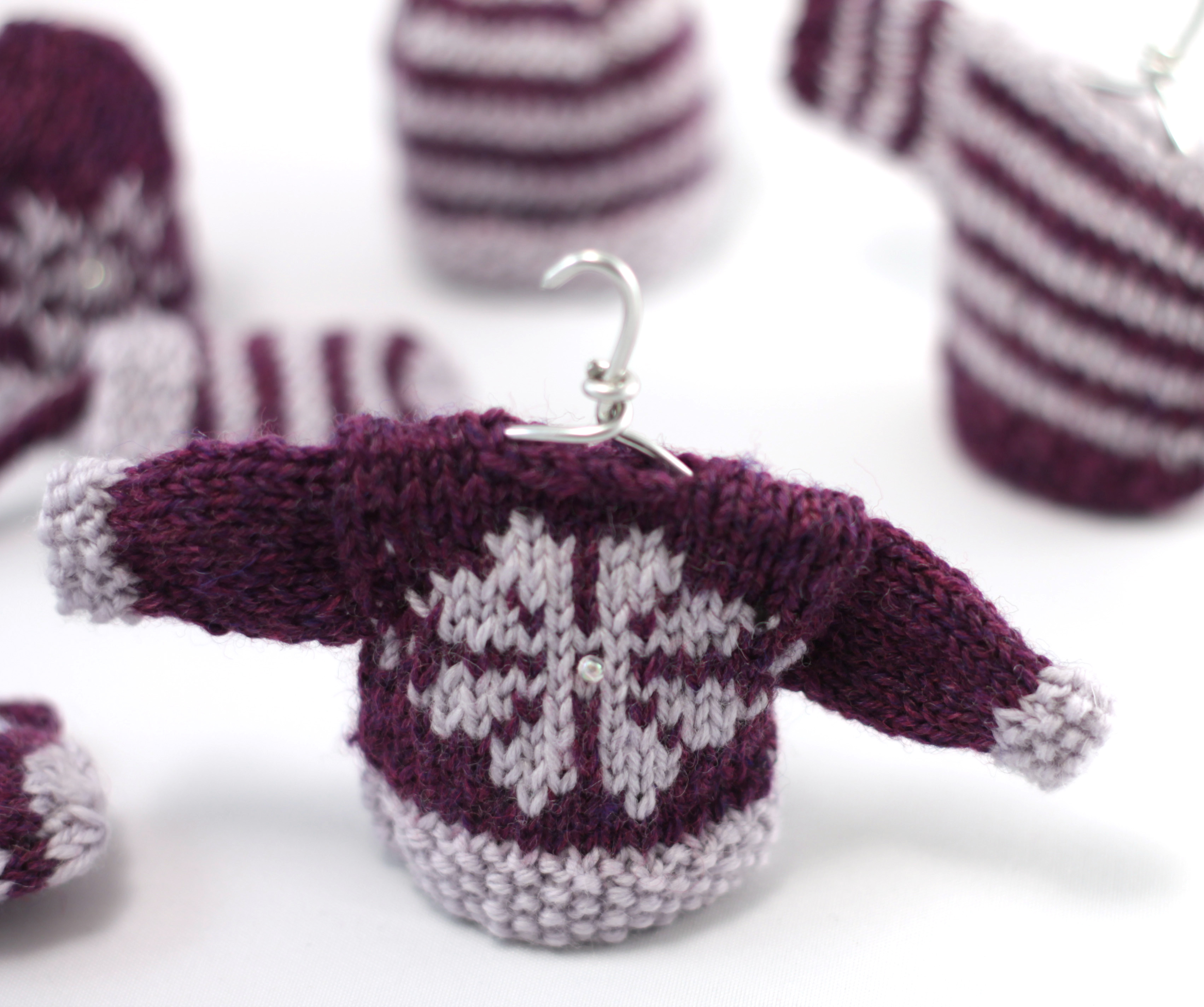 snowflake mini sweater christmas decorations