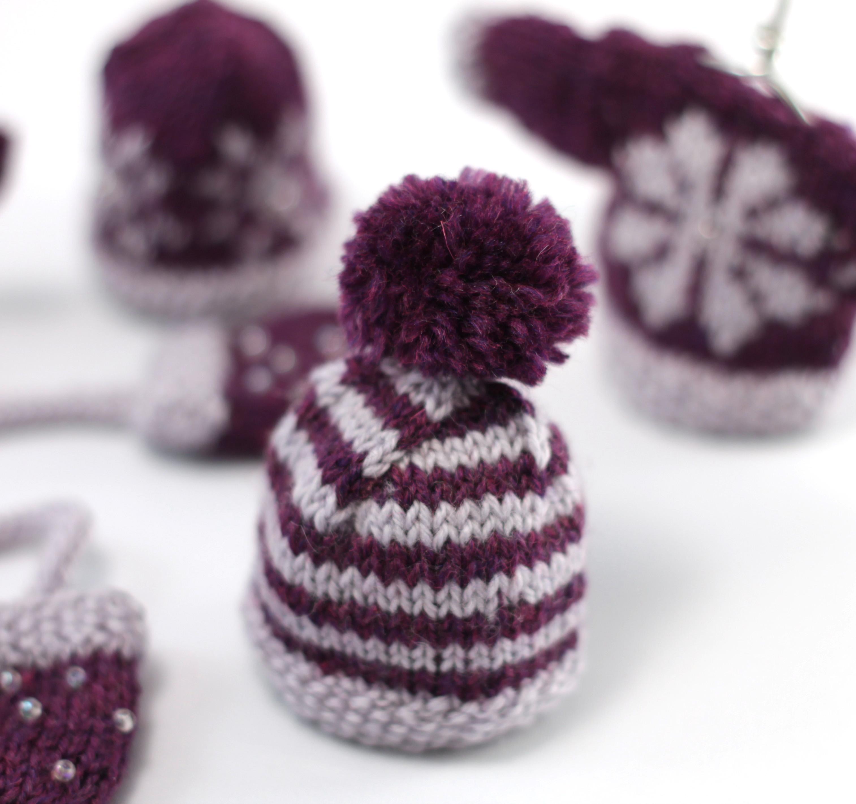 mini striped hat christmas beanie