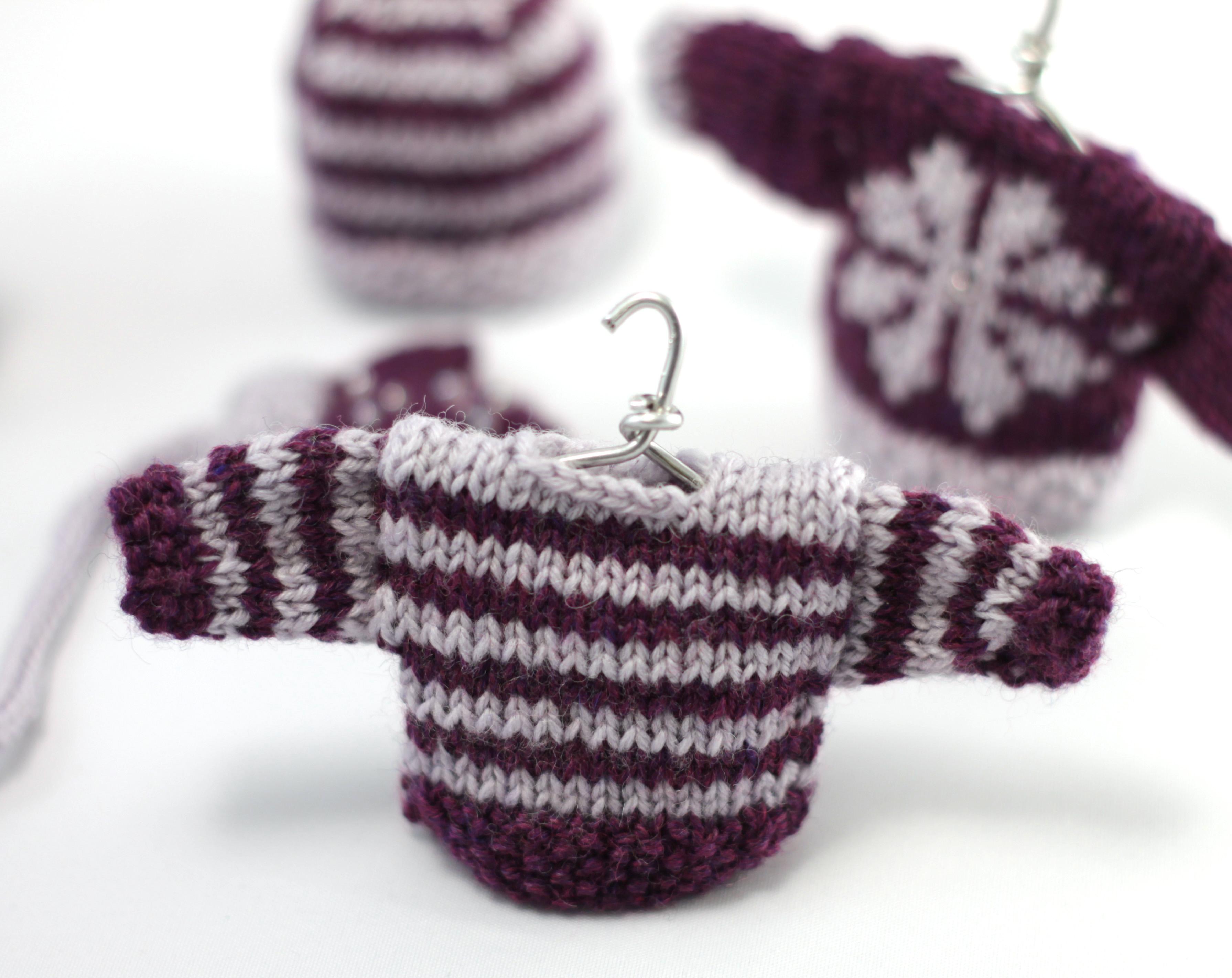 mini striped sweater christmas decorations