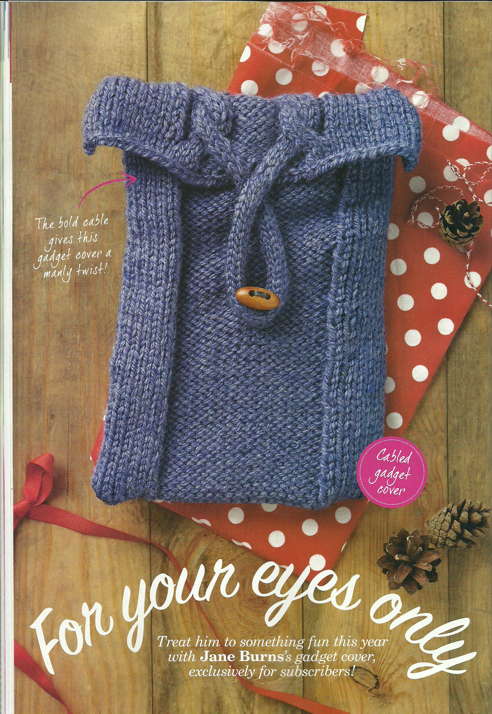 for your eyes only cable ipad case simply knitting