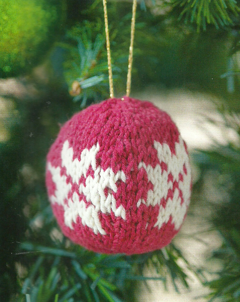 snowflake bauble simply knitting christmas decoration