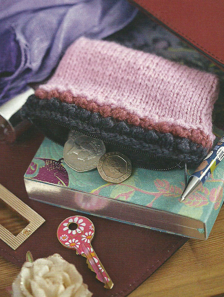 knitted coin purse