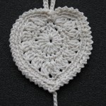 large crochet heart