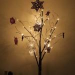 crochet snowflake lit tree