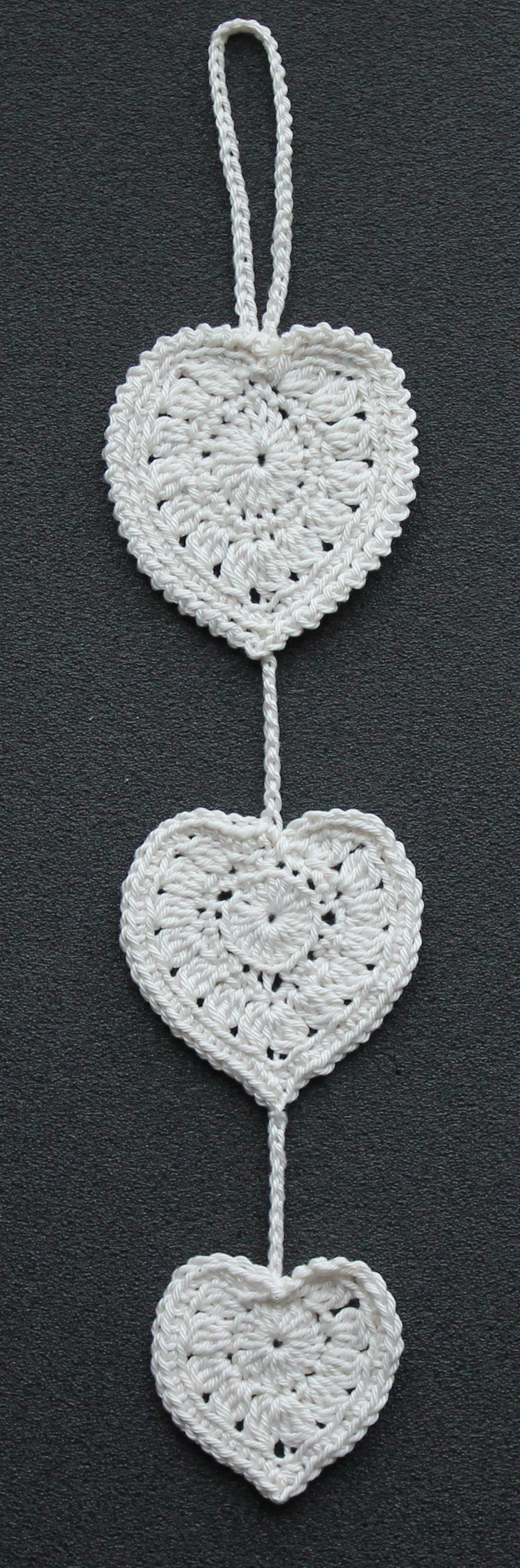 trio of hearts crochet