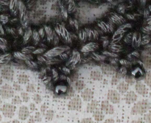 arabella crochet collar beaded picot