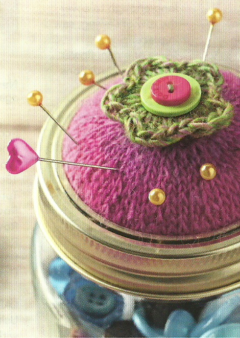 knitted jar lid pin cushion jane burns simply knitting