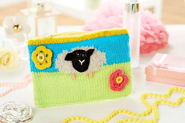 jane burns sheep purse knitted lets get crafting
