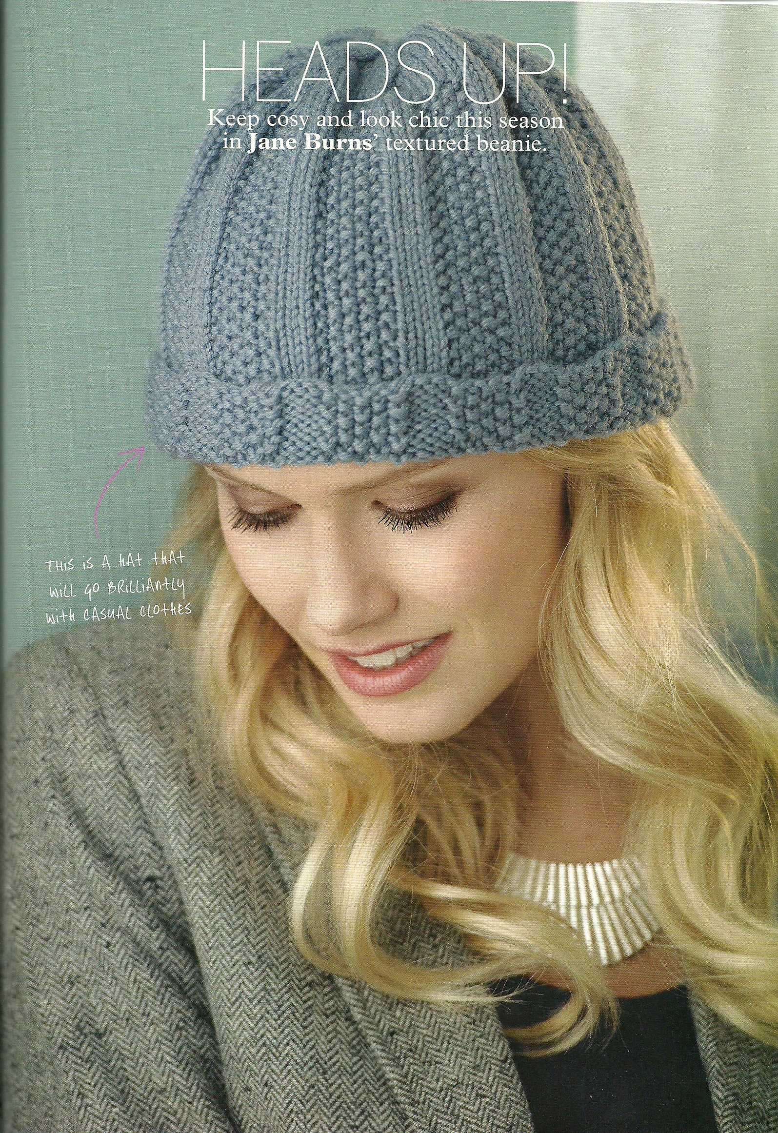 Jane Burns cover beanie hat