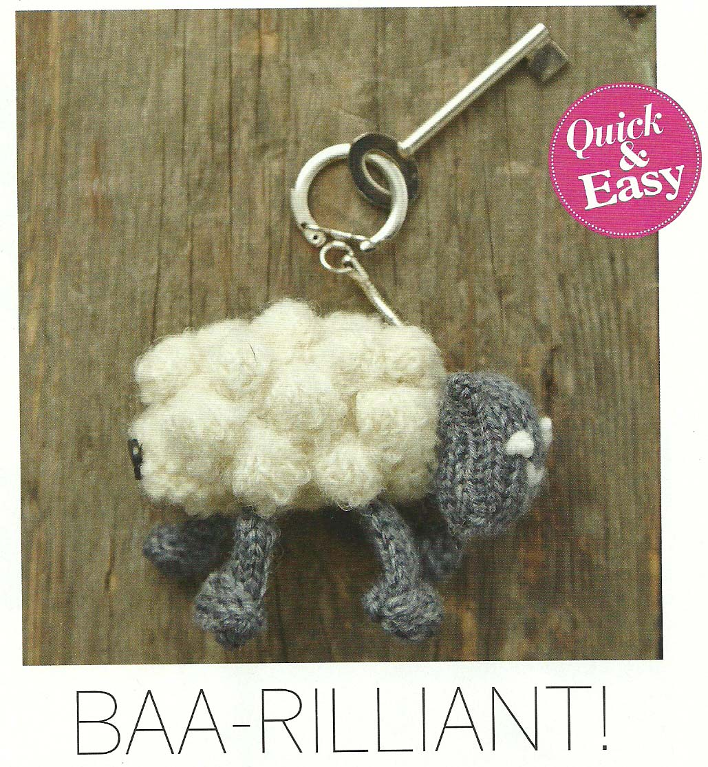 baa rilliant lamb keyring jane burns simply knitting